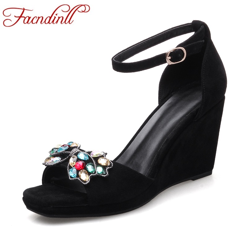 2017 new summer gladiator women sandals genuine leather wedges high heels peep toe platform rhinestone women dress party shoes phyanic 2017 gladiator sandals gold silver shoes woman summer platform wedges glitters creepers casual women shoes phy3323