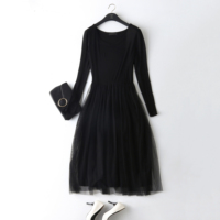 Modal long sleeve basic one piece underskirt gauze female basic full slip spring and autumn all match lace basic skirt