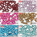 10000PCS 2mm Colorful Resin Rhinestones Flat back for cell phone,bags,Nail Art,shoes,ect.Beauty accessories for Diy Components