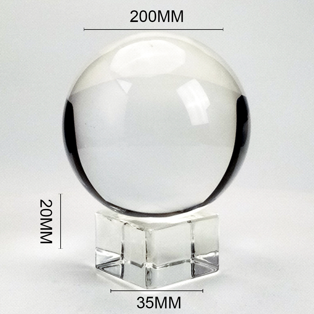 K9 Clear Chandelier Lens Ball Crystal Glass Ball Crystal Ball Stand For Sphere Photography Decoration Home Decorative Ball Globe