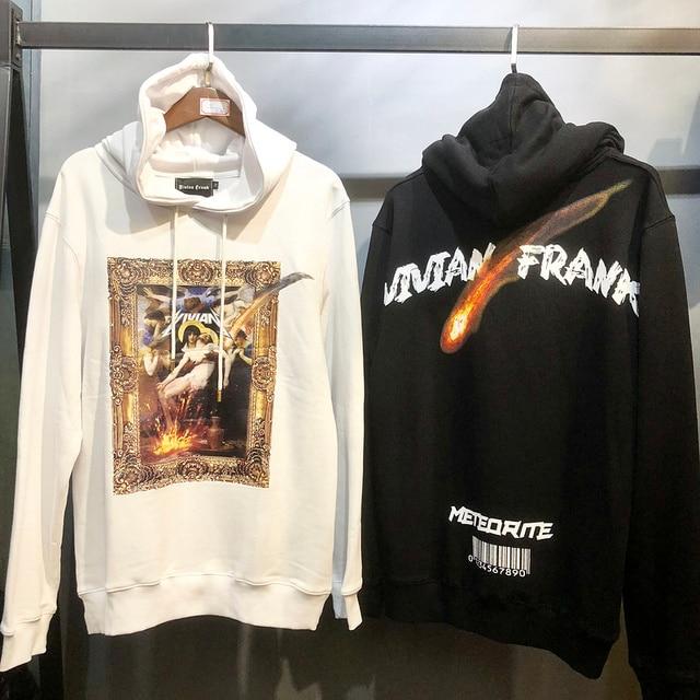 35dd1949f 2018 Vivian Frank Religious oil painting Printed Women Men Hooded Hoodies  Sweatshirts Hiphop Streetwear Men Hoodie Pullover