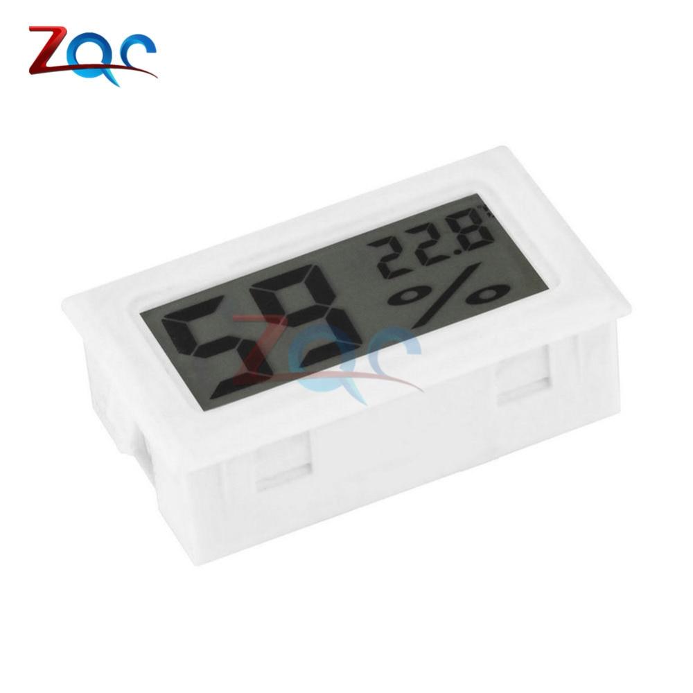 white mini lcd digital thermometer hygrometer temperature. Black Bedroom Furniture Sets. Home Design Ideas
