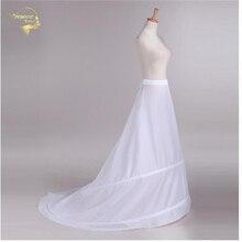 نوفيا Enaguas تنورة الزفاف زلة اكسسوارات الزفاف قميص 2 الأطواق ل ذيل خط فستان ثوب نسائي كرينولين 039
