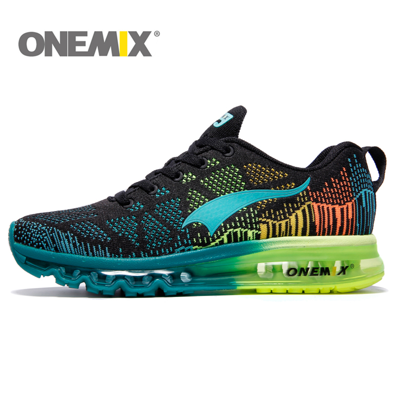 ONEMIX Air Running Shoes For Men 90 Women Free Weaving Sneaker Breathable Mesh Knit Sport Athletic Walking Shoes цена