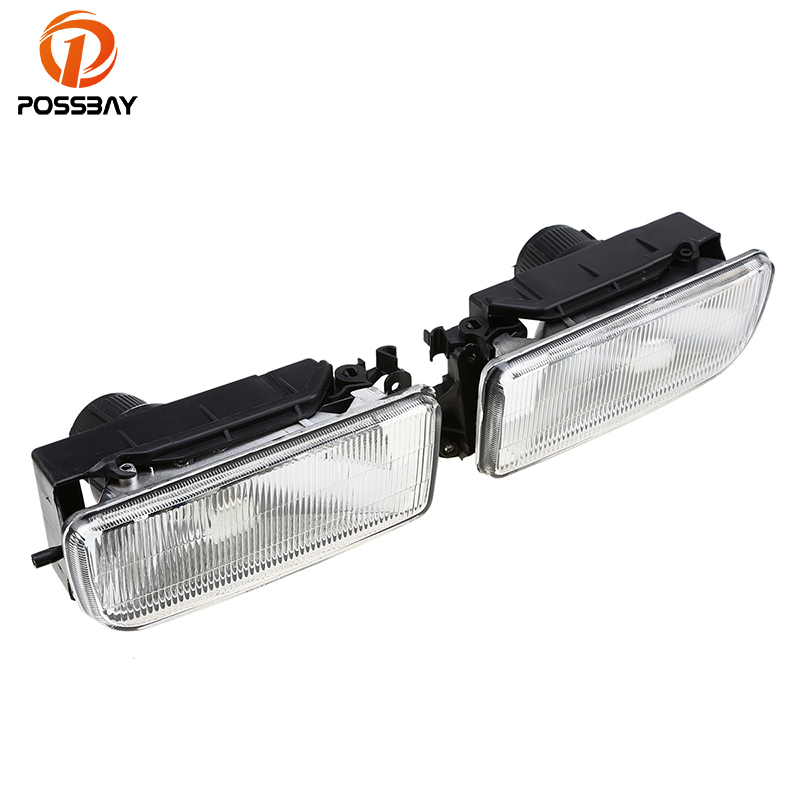 POSSBAY For BMW 3-Series E36 1990-2000 Driving Spot Fog Lights Lamp Housing 63178357389 63178357390 Fog Light Without Bulb 2pcs right left fog light lamp for b mw e39 5 series 528i 540i 535i 1997 2000 e36 z3 2001 63178360575 63178360576