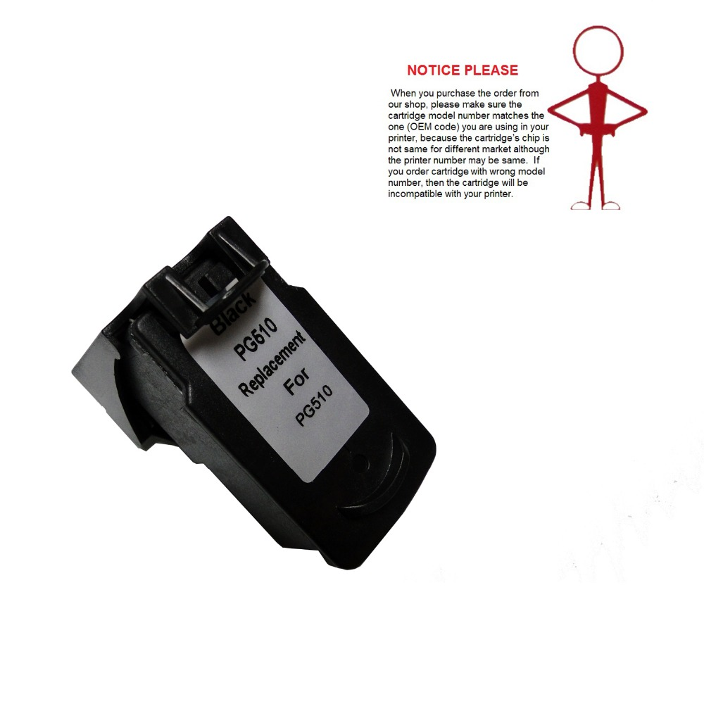 1pcs BK Refurbished ink cartridge PG 510 PG510 PG 510 for Canon Pixma MP240 MP250 MP280