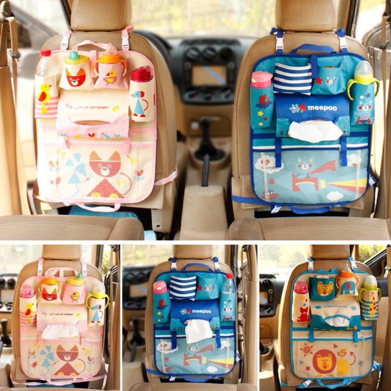 Hanging Bag Oxford Fabric Back Seat Multi Pocket Baby Kids Car Auto Organizer Holder 30 In Storage Bags From Home Garden On