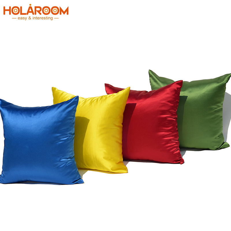 Blank Pattern <font><b>Pillow</b></font> <font><b>Case</b></font> Solid Color Cushion Covers For Home Sofa Decorative Throw Cushion Cover <font><b>50*50cm</b></font> Cojines Decorativos image