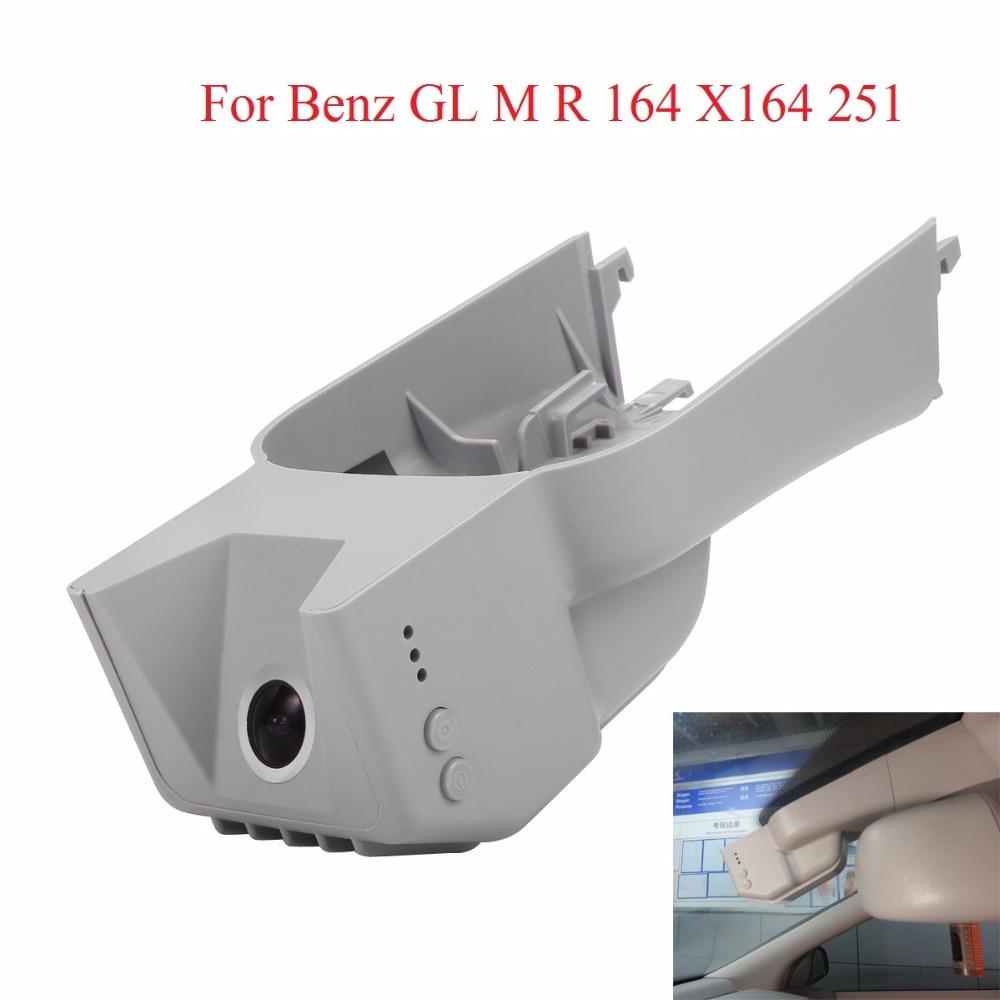 WIFI Cameras For Benz GL M R 164/X164/251 DVR Dash Cam Night Vision Dash Camcorder WDR Hidden Install With Aluminium Alloy
