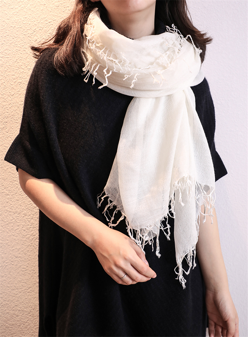 silk cashmere blend women new fashion 4sides tassels square thin scarf pashmina 140x140cm solid color