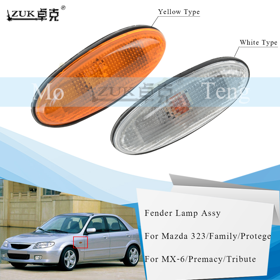 Set Pair LH+RH Electric Door Mirror Prime For Mazda BJ 323 Protege Astina 98~03