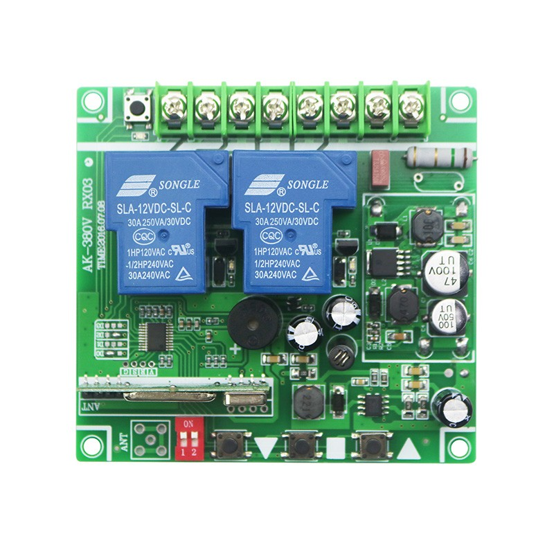 DC12V 24 В 36 В 48 В 10A 2ch rf Беспроводной Дистанционное управление переключатель 5 передатчик с 2-кнопки приемника для Приспособления ворота гаража