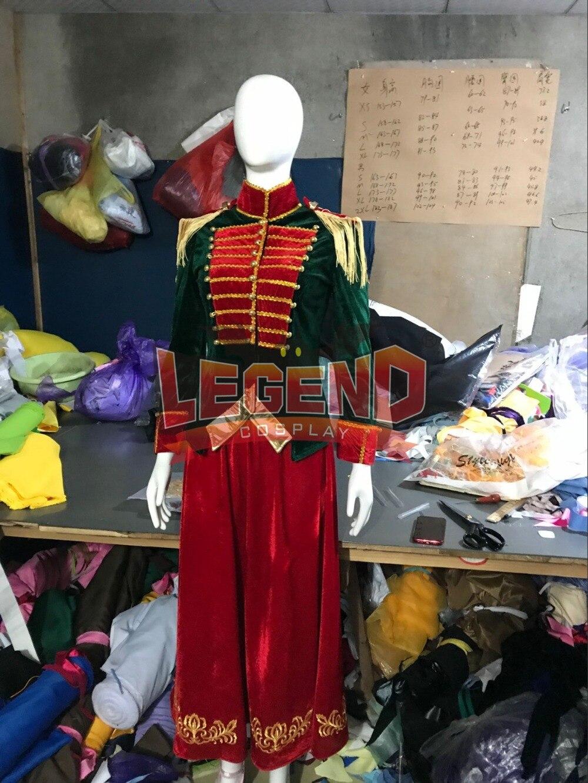 8deae6069 Clara Costume dress The Nutcracker and the Four Realms Cosplay Halloween  Costume Clara Uniform suit Custom Made