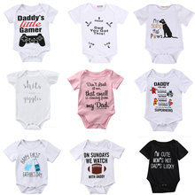 DERMSPE 2019 New Casual Newborn Baby Boys Girls Short Sleeve Letter Print Cute Cartoon Soft Cotton Romper Jumpsuit Clothes