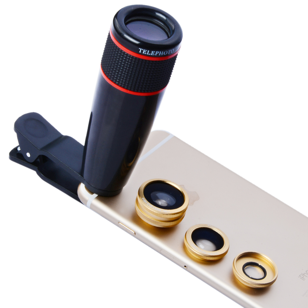 free shipping 5216e 0e7c9 US $12.99 |APEXEL Camera Lens Kit for iPhone 6 6s Plus 12x Telephoto  Lens+Fish Eye+Macro & Wide Angle Lens for Android smartphones 12CX3-in  Mobile ...