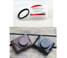 2 in 1 JYC 40MM Lens UV Filter + Camera bag case with shoulder strap for Fujifilm Fuji X10 X20 X-10 X-20