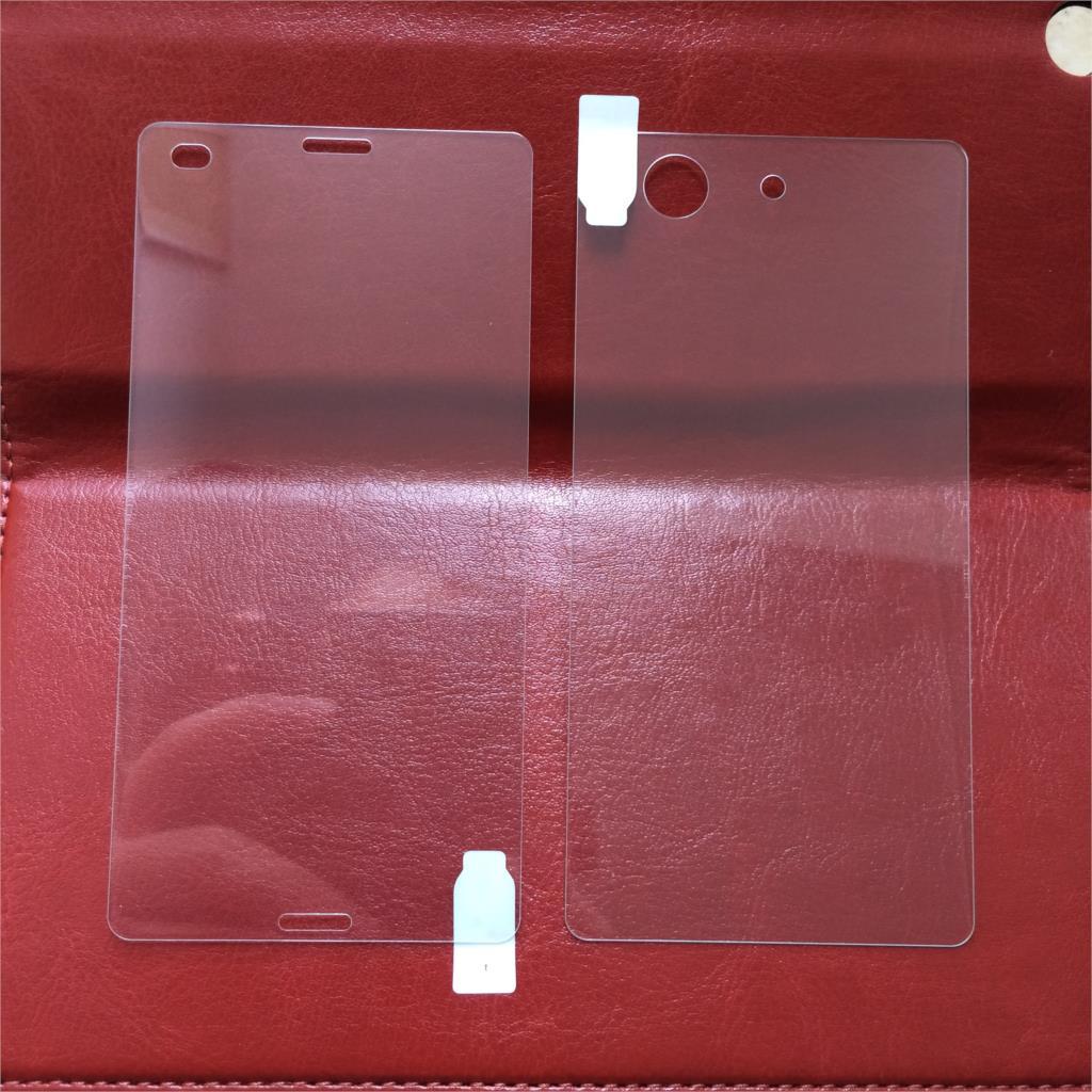 2st * (fram + bak) för Xperia Z3 mini Unitech 9H 0.2mm - Reservdelar och tillbehör för mobiltelefoner - Foto 3