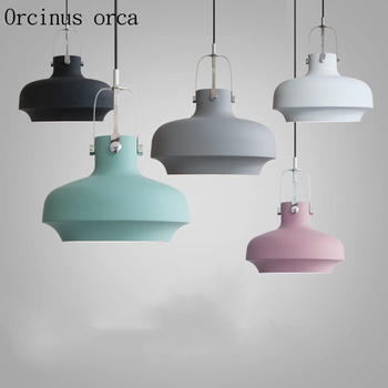 Nordic post-modern minimalist chandelier restaurants bar American style industrial wind single head aluminum Chandelier