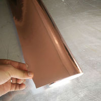 1.52x15m Hot Sale self adhesive rose gold car vinyl film decorative car wrap film with air free
