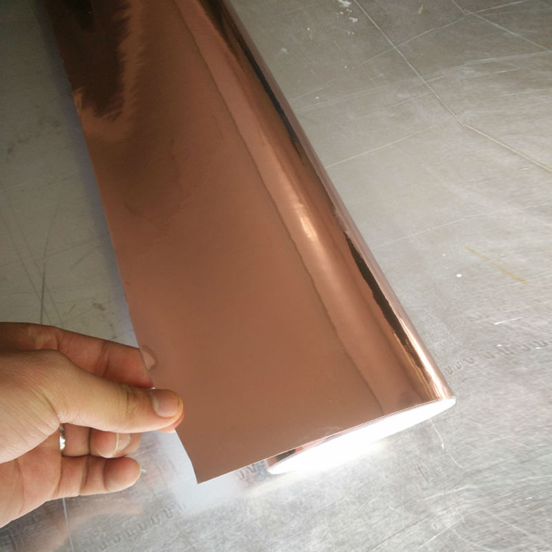 1.52x15m Hot Sale self-adhesive rose-gold car vinyl film decorative car wrap film with air free