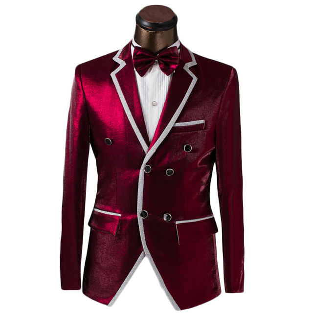 Luxury Custom Men Double Breasted Suit Fashion Design Mens Prom ...