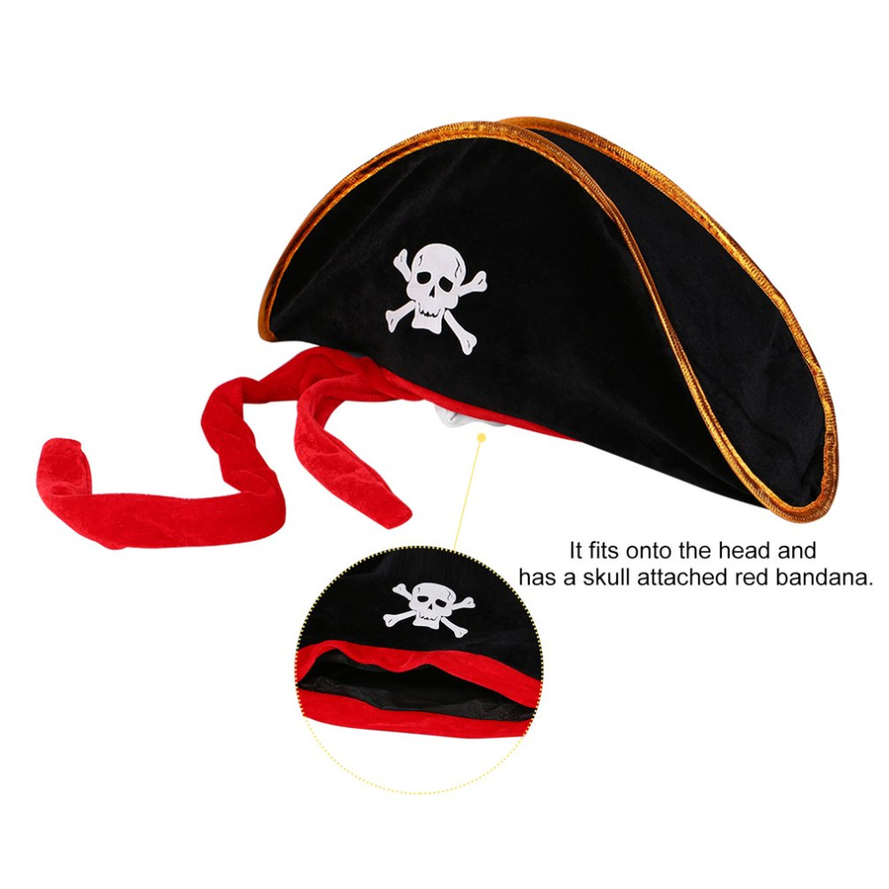 c0cbfcf51d4 Halloween accessories skull hat caribbean pirate hat skull hat piracy cap  Corsair cap party supplies Costume Fancy Dress Party-in Boys Costume  Accessories ...