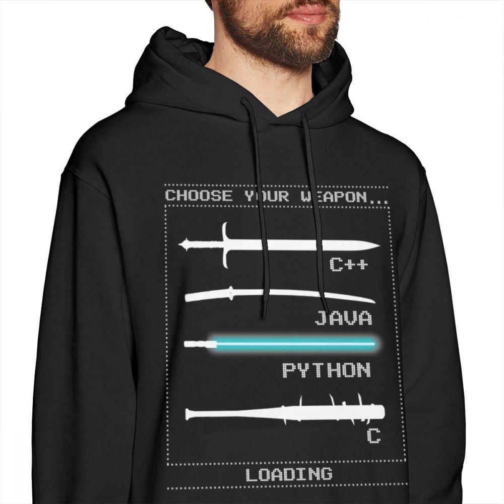 Image 2 - Programmer Hoodie Programmer Hoodies White Mens Pullover Hoodie XXXL Cotton Popular Long Warm Streetwear Hoodies-in Hoodies & Sweatshirts from Men's Clothing