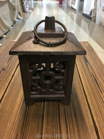 Square Metal European Wall Hanging Votive Candle Holder Wedding Candlestick Hanging Lantern Home Wedding Decorative Candle