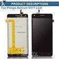 100% de Garantia Preto Para Philips Xenium V377 Display LCD Com Tela de Toque Digitador Assembléia ferramentas Gratuitas