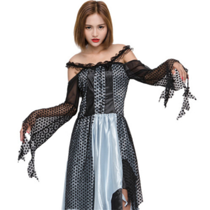 Luxurious Halloween Sexy Female Vampire Costume For Women Scary Ghost Bride  Cosplay Dress Zombie Queen Day Of The Dead Costumes 1 3 2 5 8 4
