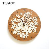 Clock On The Wall Wood Wall Clocks Modern Design Quartz Mute Living Room Home Decoration Accessories Vintage Watch