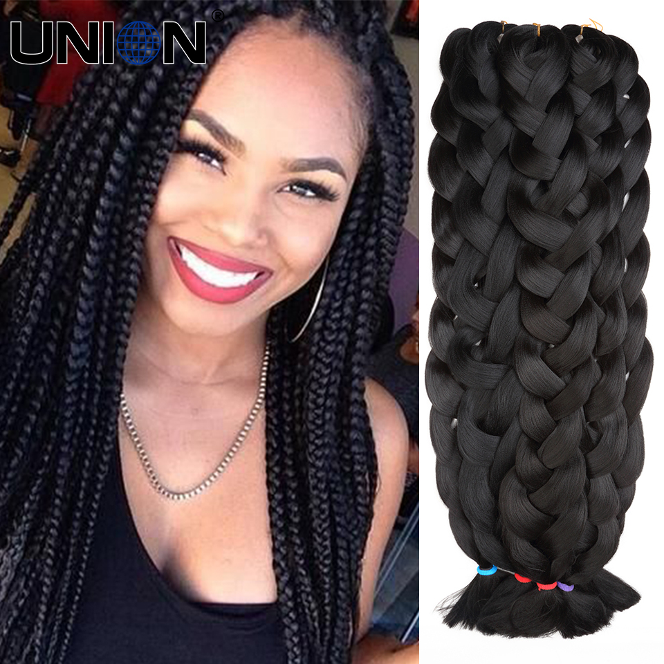extra long braiding hair synthetic hair for braiding black ...
