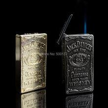 แจ็คแดเนียลส์อิเล็กทรอนิกส์เหนี่ยวนำสัมผัสสวิทช์เจ็ไฟฉายรีฟิลบิวเทนก๊าซบุหรี่ซิการ์W Indproofเบา