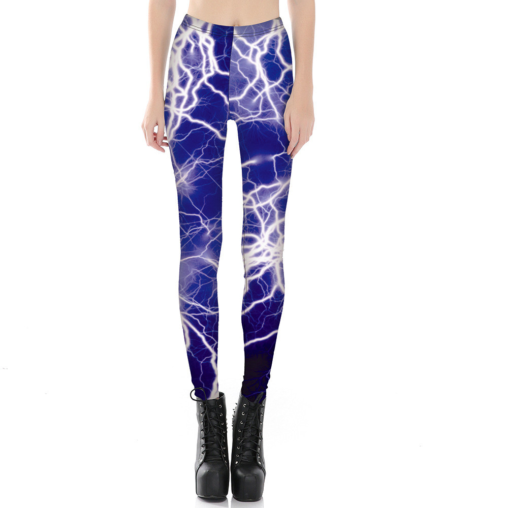 Movie Tron Storm Lightning Print Women Leggings Slim Fit Thin Elastic Polyester Cos Party Pants Casual Trousers Drop Shipping