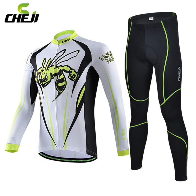 Cheji Men winter cycling sets long sleeve mens cycling Jersey Lycra Breathable Long Bike Bicycle Clothing set with 3d gel padded ботинки pinko pinko pi754awoif30
