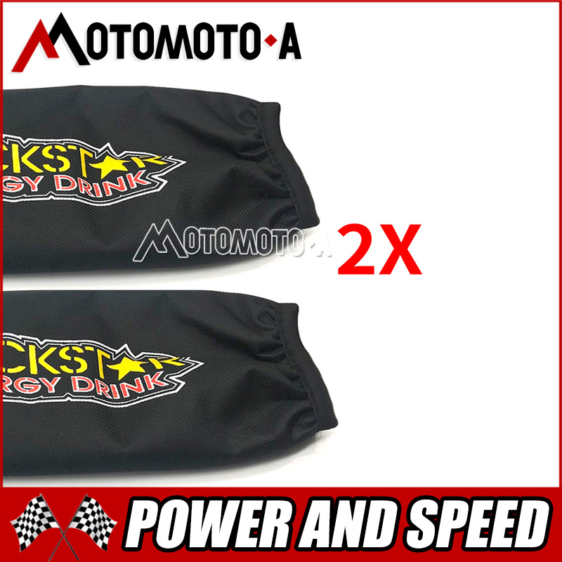 2X Universal Rockstar Shock Protector Cover 350mm For Motorcycle Suzuki LTZ 400 Quad ATV KFX400 Yamaha YFZ 450 Free Shipping