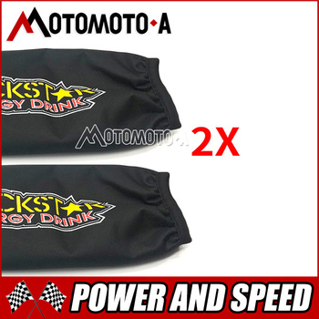 2X uniwersalny Rockstar Shock obudowa ochronna 350mm dla motocykli Suzuki LTZ 400 Quad ATV KFX400 Yamaha YFZ 450 darmowa wysyłka tanie i dobre opinie Falling ochrona HOLATO