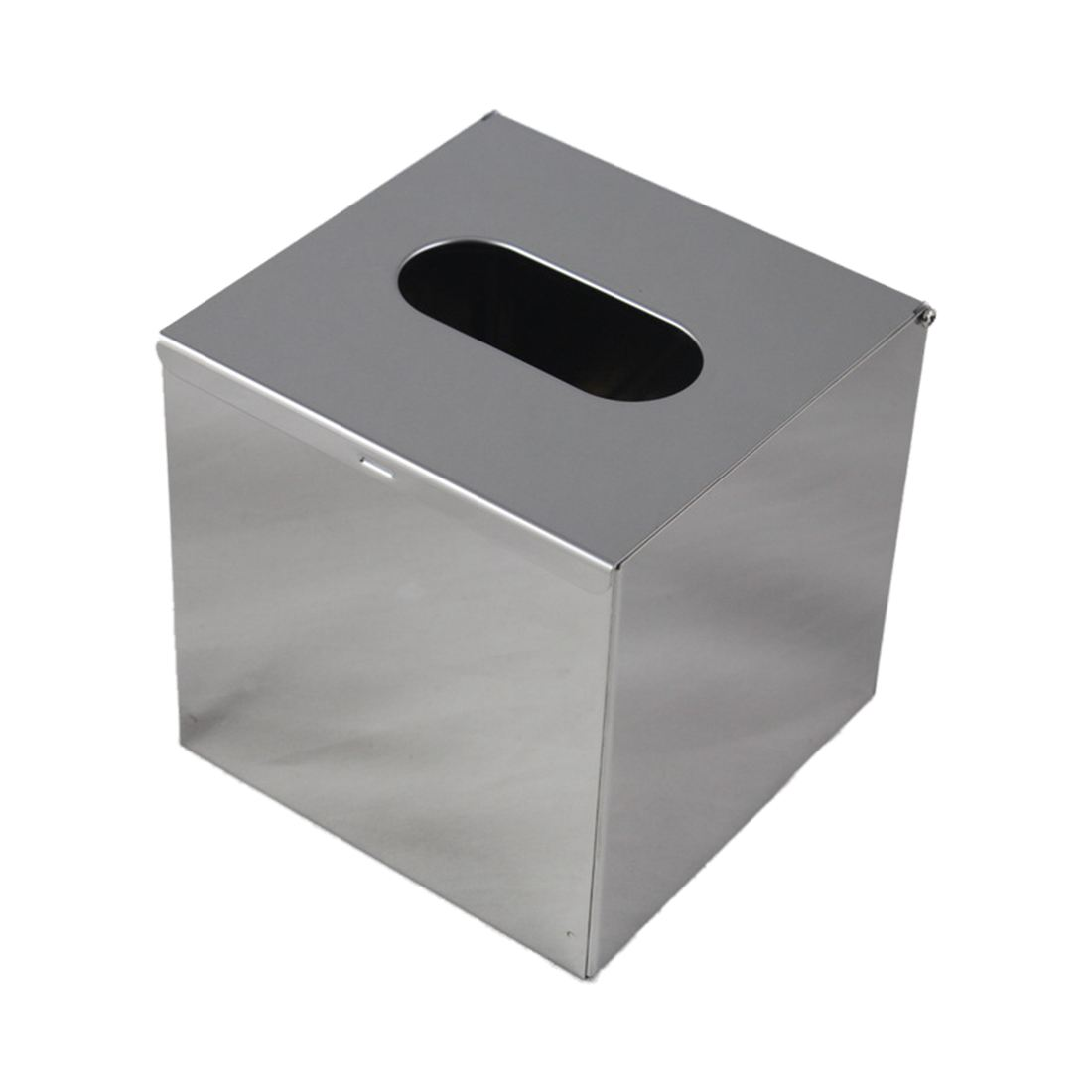 Stainless Steel Handkerchief Dispenser Cosmetic Towel Tissue box Silver