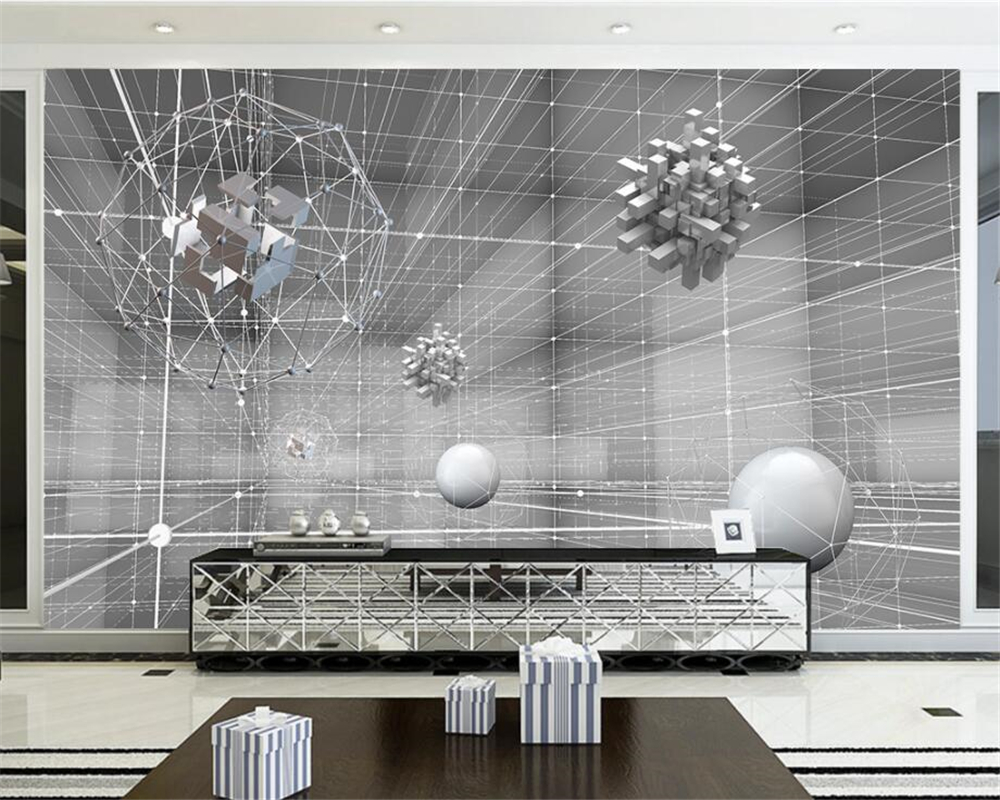 online buy wholesale space wall murals from china space wall beibehang custom wallpaper living room bedroom mural 3d stereo abstraction space nordic tv backdrop wall mural