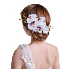 1 шт. женские цветок зажим для волос шпилька Свадебный Гавайи Party белый# Y