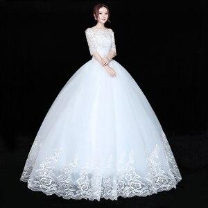 Image 4 - Düğün elbisesi Gelin Artı boyutu Dantel düğün elbisesi es Yeni Balo Elbise Prenses