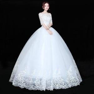 Image 4 - Wedding Dress Bride Plus size Lace Up Wedding Dresses New Ball Grown Dress Princess