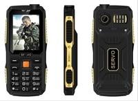 4 SIM Card 4 Standby Mobile Phone SERVO V3 2 4 Inch 2800mAh Power Bank Cellphone