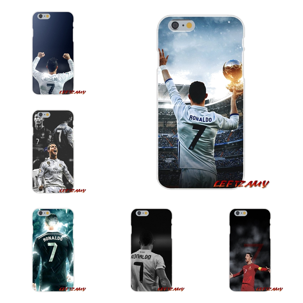 For iPhone X 4 4S 5 5S 5C SE 6 6S 7 8 Plus cr7 cristiano ronaldo soccer Accessories Phone Shell Covers