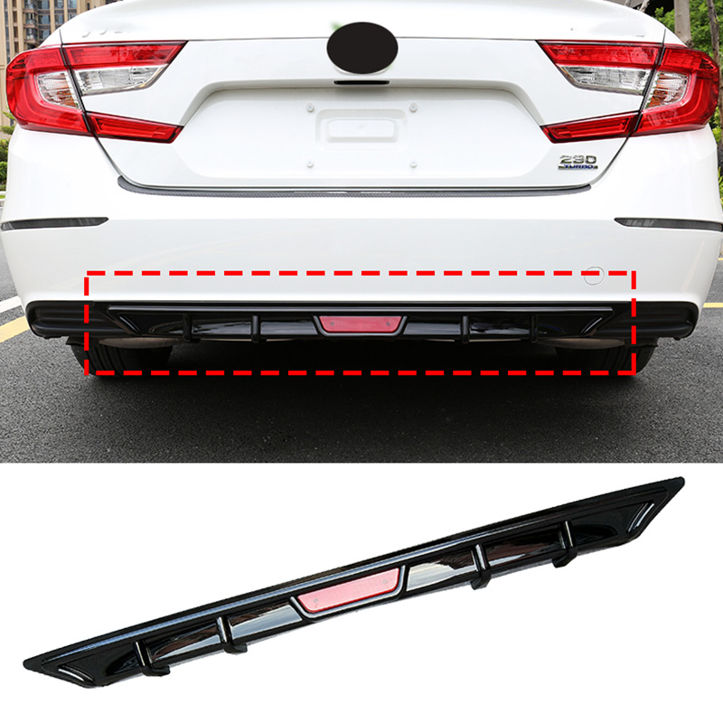 Shark Fin Wing Lip Diffuser Rear Bumper Chassis 1pcs Fit For Honda 10TH Accord 2018 2019