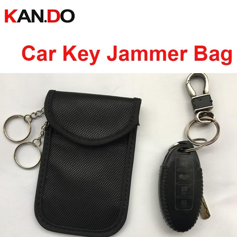 Car Key Sensor Jammer Bag Card Anti-Scan Sleeve Bag Signal Blocker Bank Card Protection Jammer Remote Car Key Jammer Bag