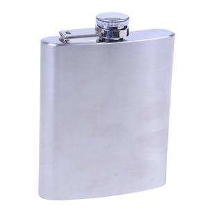 TPXCKz Hot Sale New Stainless Steel Pocket Hip Flask Alcohol Whiskey Liquor Screw Cap 7 OZ Liquor Hip Flask 200ml
