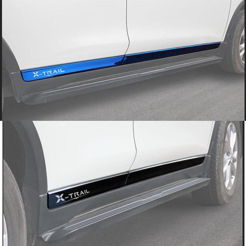 Chrome Stainless Steel Body Molding Door Trim For Nissan Rogue X-trail 2014-2018