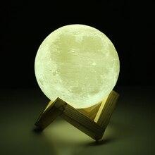 купить 3D Print Rechargeable Moon Lamp LED Night Light Creative Touch Switch Moon Light For Bedroom Decoration Birthday Gift дешево