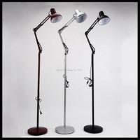 Classic Floor Lamps Vintage Foldable Floor Stand Lighting Dark Red Black Grey Antique Floor Lamp Lampara